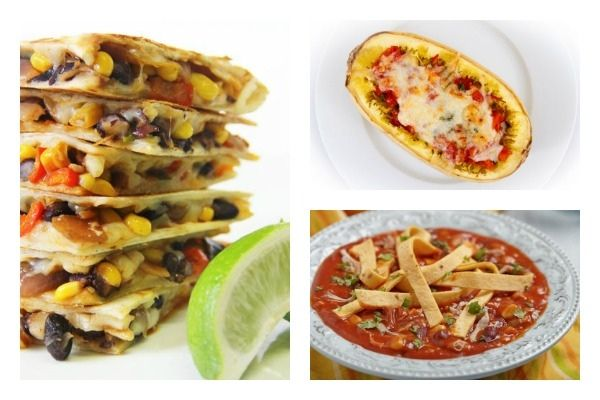 Weight Watchers Recipes Used in the Healthy Meal Plan (7/6-7/12) - Picture of Weight Watchers Quesadillas, Stuffed Spaghetti Squash Boats & Creamy Chicken Tortilla Soup