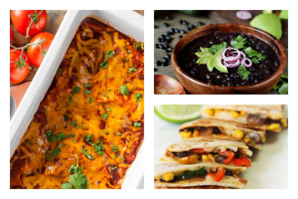 DeeDeeDoes.com picture of Weight Watchers Enchilada Casserole, Caribbean Black Bean Soup and Low SmartPoint Quesadillas
