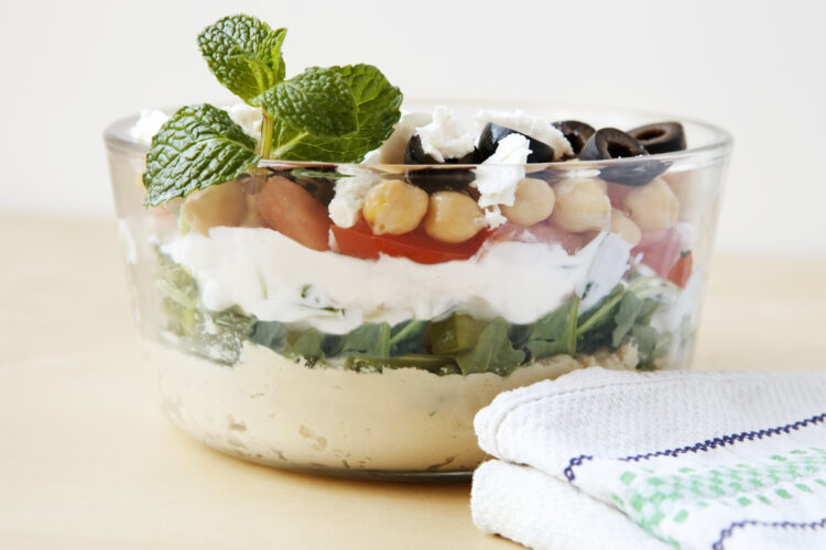 Easy From Scratch Layered Hummus Dip – Weight Watchers Recipe