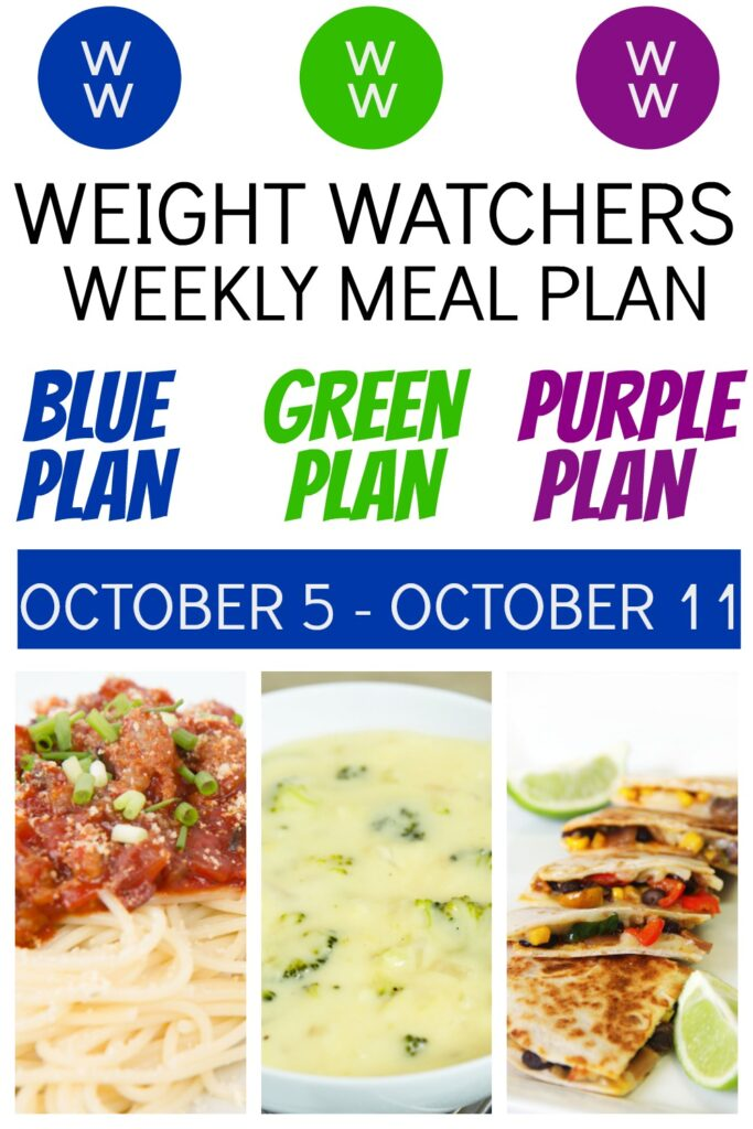 3 pictures of Weight Watchers Recipes featured in deedeedoes.com healthy Meal Plan (10/5-10/11)