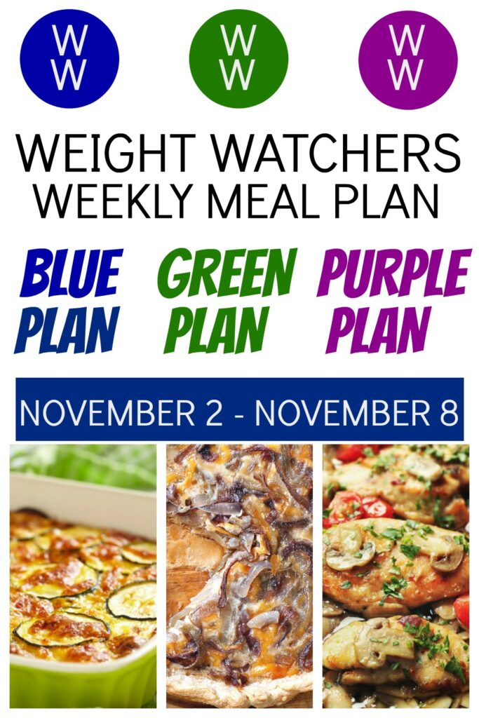 pinterest pin of Weight Watchers Recipes + Healthy Meal Plan (11/2-11/8)