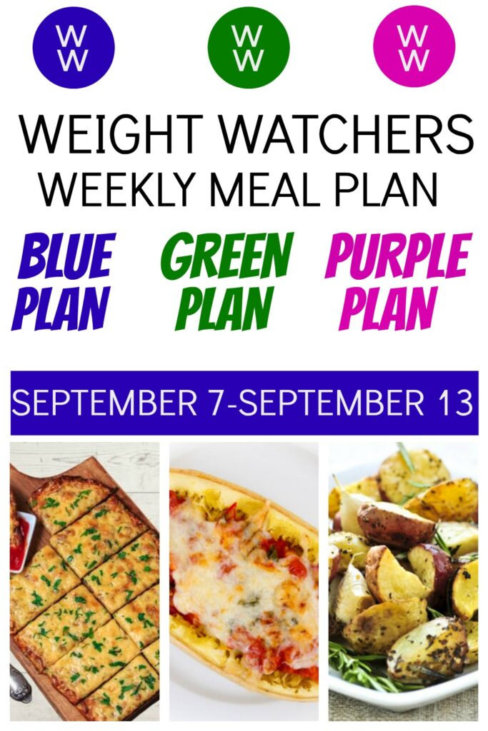 picture of pinterest pin for Weight Watchers Recipes + Healthy Meal Plan (9/7-9/13)