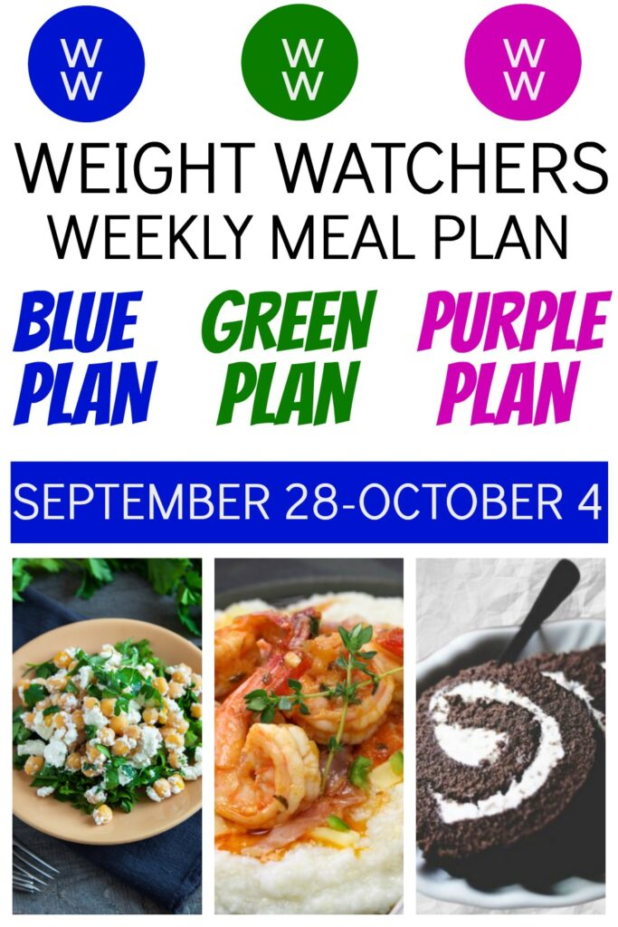 pinterest pin of deedeedoes.com weight watchers weekly meal plan