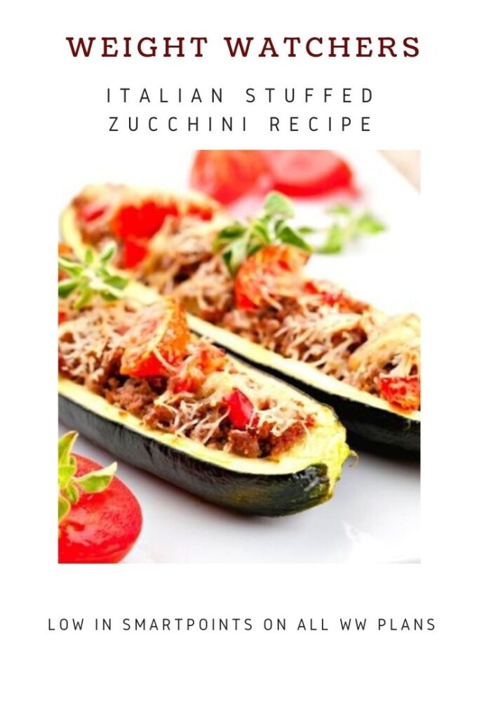 picture of Italian Stuffed Zucchini with tomatoes
