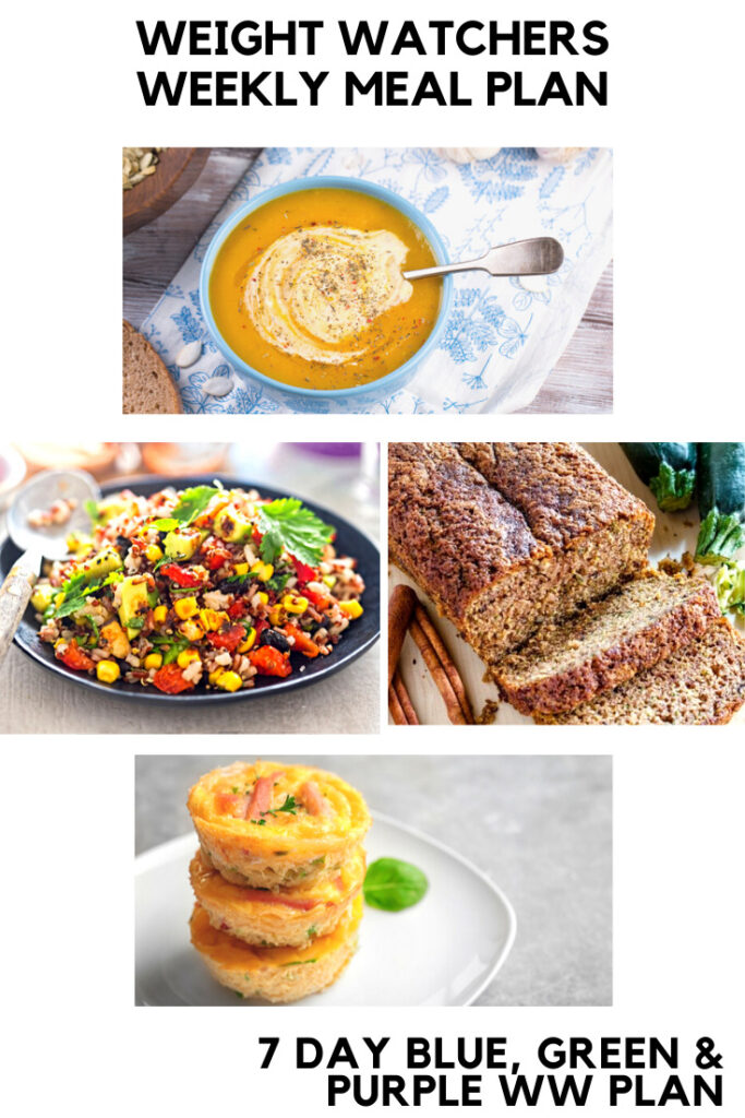 4 Weight Watchers Recipes featured in a Weight Watchers Weekly Meal Plan
