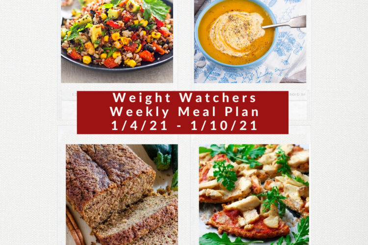 Weight Watchers Recipes + Weekly Weight Loss Meal Plan (1/4-1/10)