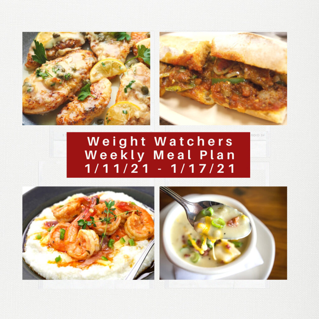 Weight Watchers Recipes + Weekly Weight Loss Meal Plan