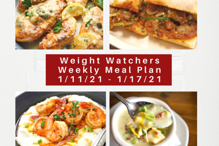 Weight Watchers Recipes + Weekly Weight Loss Meal Plan (1/11-1/17)
