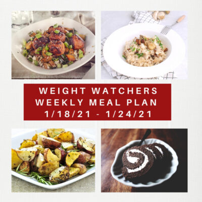 Weight Watchers Recipes + Weekly Weight Loss Meal Plan (1/18-1/24)