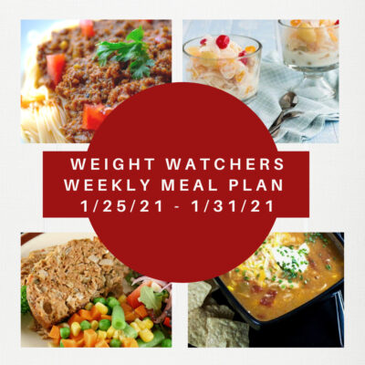 Weight Watchers Recipes + Weekly Weight Loss Meal Plan (1/25-1/31)