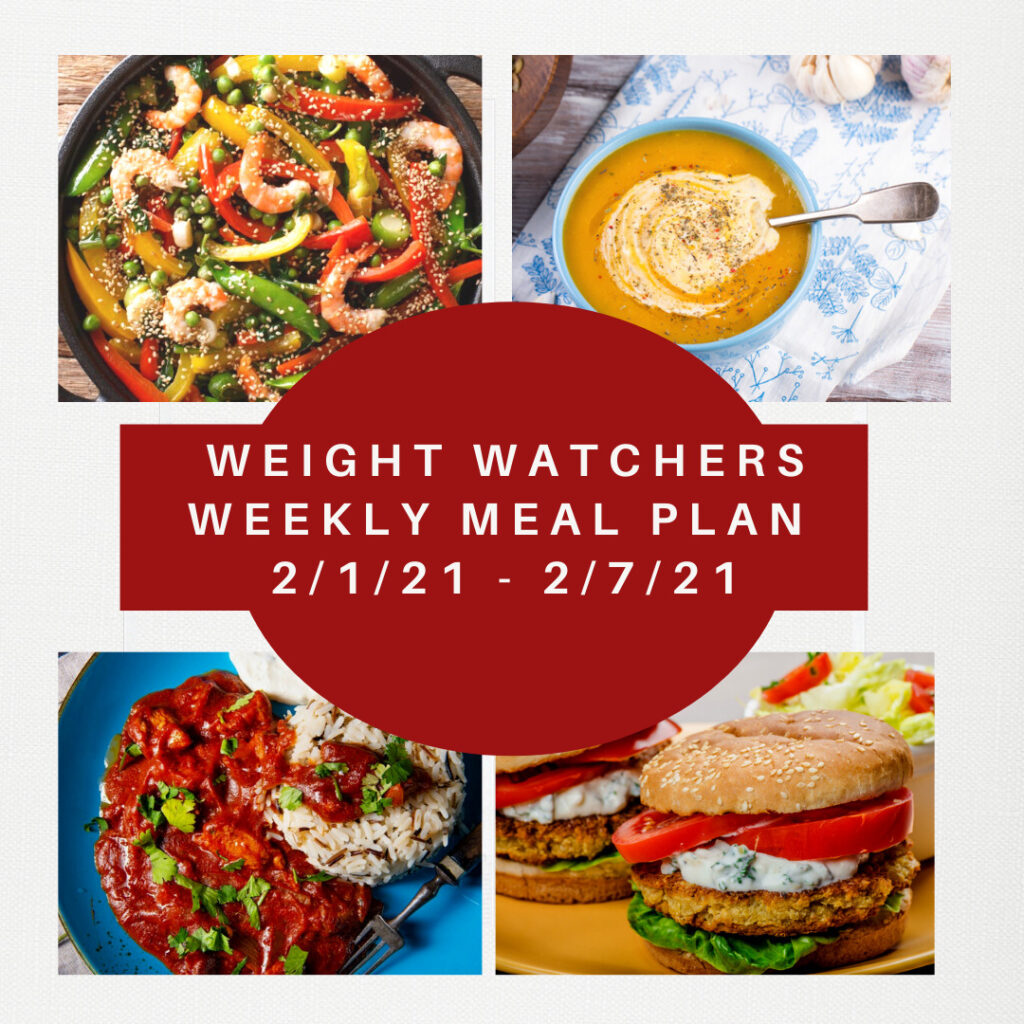 Weight Watchers Weekly Meal Plan for Weight Loss 2/1-2/7