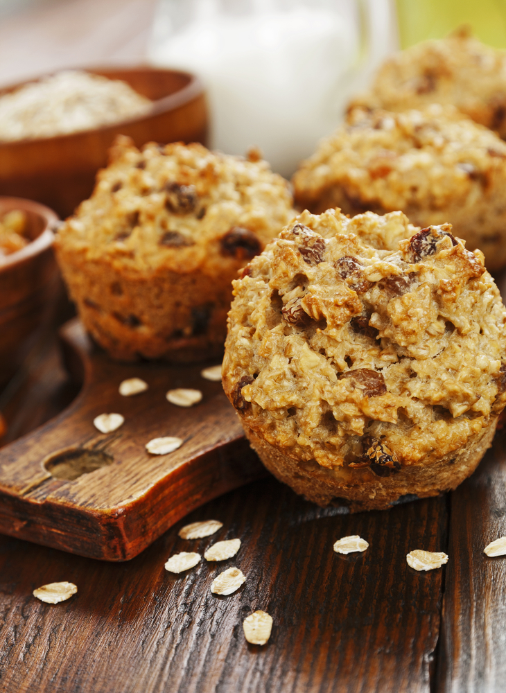 Flourless Oatmeal Banana Chocolate Chip Muffins + Gluten Free