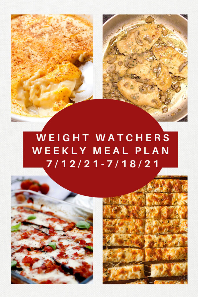 Weight Watchers Weekly Meal Plan for the Week of 7/12-7/18