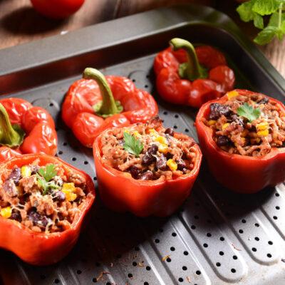 Healthy Mexican Stuffed Bell Pepper Recipe – 0 SmartPoint Dinner on Blue/Purple Plans