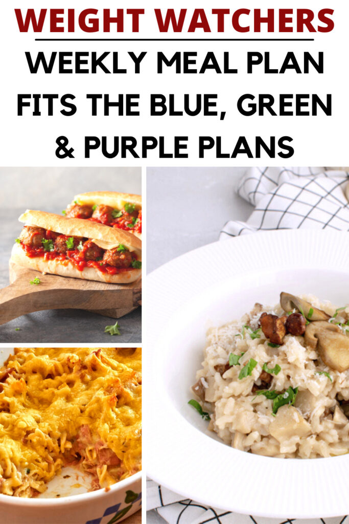 Weight Watchers Weekly Meal Plan for the Week of 8/23-8/29