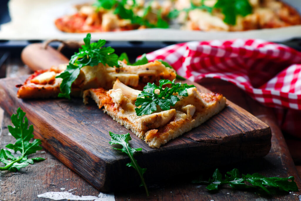 Barbecue Chicken Pizza with Cauliflower Crust