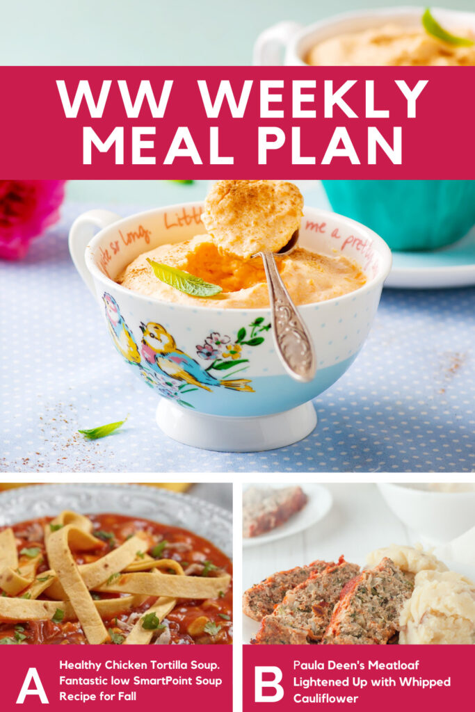 Weight Watchers Weekly Meal Plan for the Week of 9/27-10/3