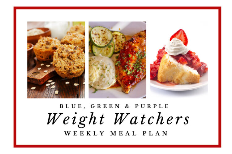Weight Watchers Weekly Meal Plan for the Week of 10/4 -10/10