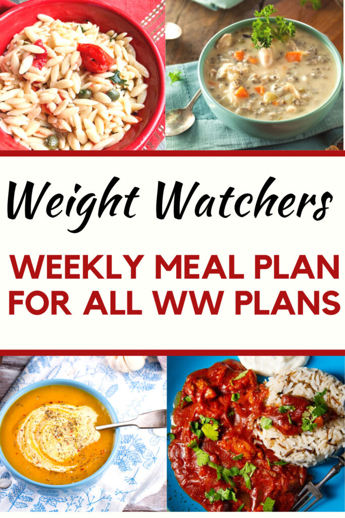Weight Watchers Weekly Meal Plan for the Week of 10/11-10/17